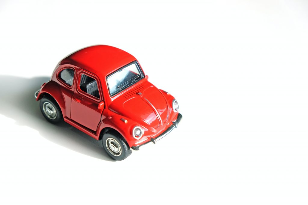 A red toy car.